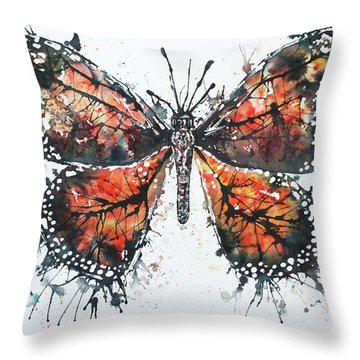 Butterfly Study I Throw Pillow