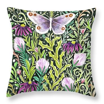 Butterfly Tapestry Design Throw Pillow