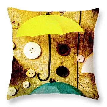 Button Storm Throw Pillow