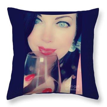 Buveur De Vin Throw Pillow
