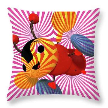 Buzzie Bee Icon Throw Pillow