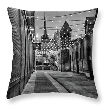 Bw City Lights Throw Pillow