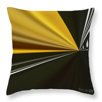 Throw Pillow featuring the painting By Night by A zakaria Mami