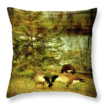 By The Little Tree - Lake Carasaljo Throw Pillow