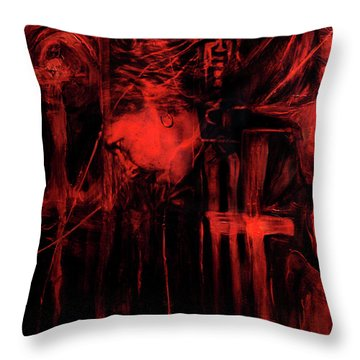 By Way Of The Holy Throw Pillow