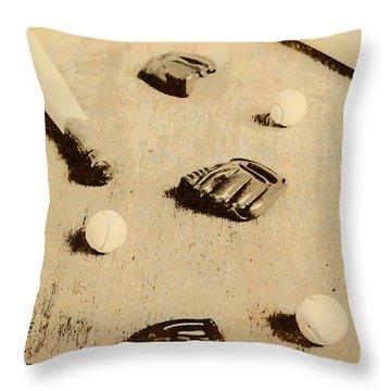 Bygone Baseball Throw Pillow
