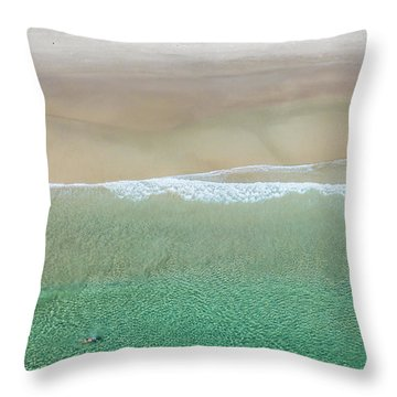 Throw Pillow featuring the photograph Byron Bay Swimmers by Chris Cousins