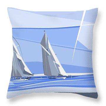 C-class Yachts Throw Pillow