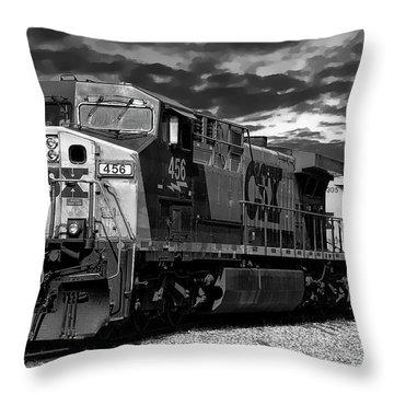 C S X Train Throw Pillow