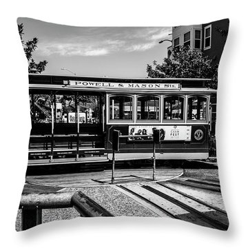 Cable Car Turn Around Throw Pillow