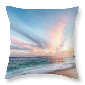 Throw Pillow featuring the photograph Cabo San Lucas Beach Sunset Mexico by Nathan Bush
