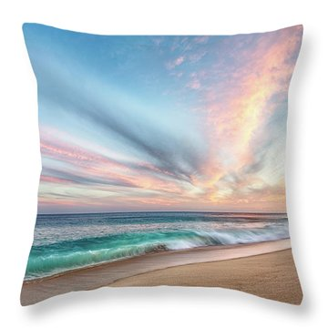 Throw Pillow featuring the photograph Cabo San Lucas Beach Wave Sunset by Nathan Bush