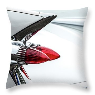 Cadillac Tail Fins Throw Pillow