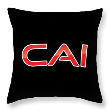 Throw Pillow featuring the digital art Cai by TintoDesigns