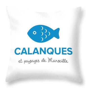 Calanques Et Paysages De Marseille Throw Pillow