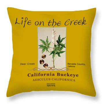 California Buckeye Throw Pillow