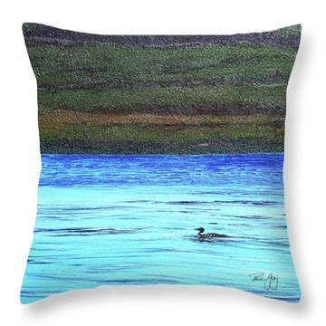 Call Of The Loon Throw Pillow