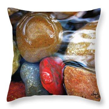 Calming Stones Throw Pillow