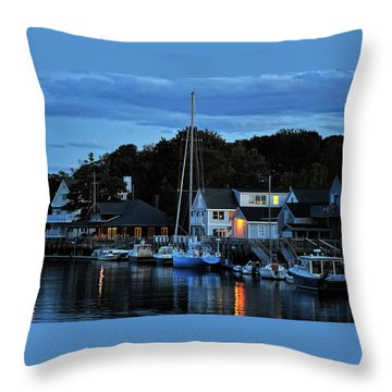 Camden Maine Twightlight Throw Pillow