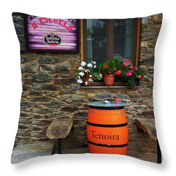 Camino Pilgrim's Repast Throw Pillow