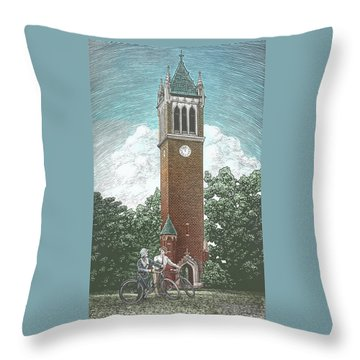 Campanile 1928 Throw Pillow