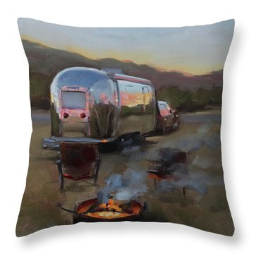 Campfire At Palo Duro Throw Pillow