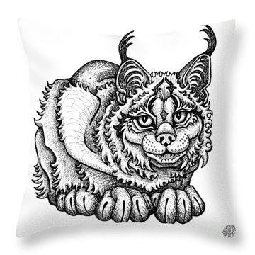Canada Lynx Throw Pillow