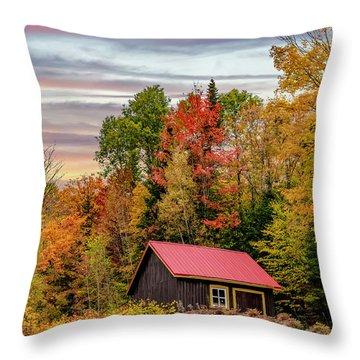 Canadian Autumn Throw Pillow