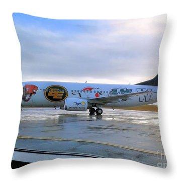 Canadian Football League Official  Plane   Throw Pillow
