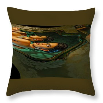Canary Seaweed Throw Pillow