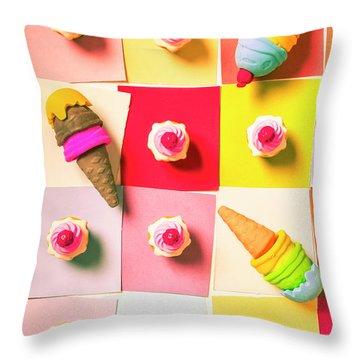 Candy Calendar Throw Pillow