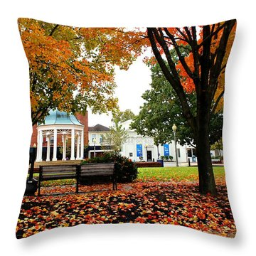 Throw Pillow featuring the photograph Candy Corn by Candice Trimble