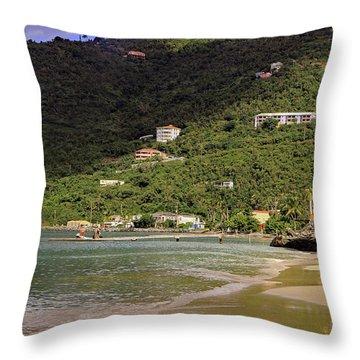 Throw Pillow featuring the photograph Cane Garden Bay by Tony Murtagh