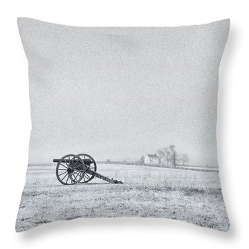 Cannon Out In The Field Throw Pillow