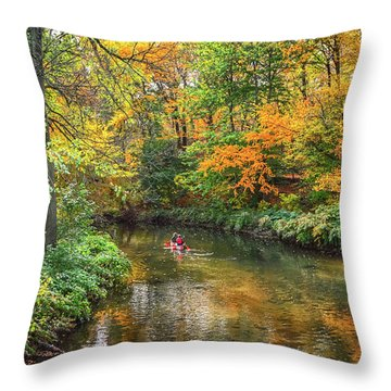Canoeing Throw Pillow