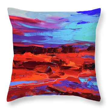 Canyon At Dusk Throw Pillow