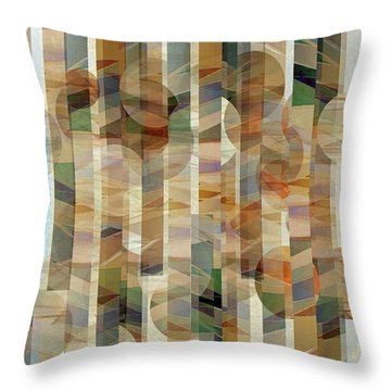 Canyon Circles And Stripes Throw Pillow
