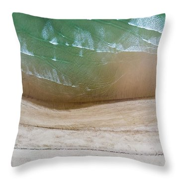 Cape Cod Beach Abstract Throw Pillow