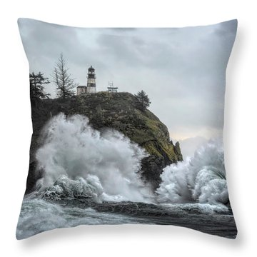 Cape Disappointment Chaos Throw Pillow