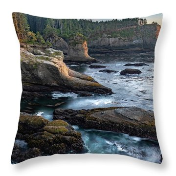 Throw Pillow featuring the photograph Cape Flattery by Ed Clark