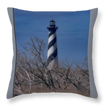 Throw Pillow featuring the photograph Cape Hatteras Lighthouse by Pete Federico