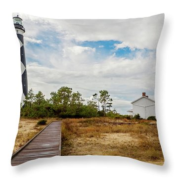 Cape Lookout Lighthouse No. 2 Throw Pillow