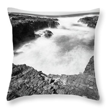 Throw Pillow featuring the photograph Cape Perpetua by Whitney Goodey