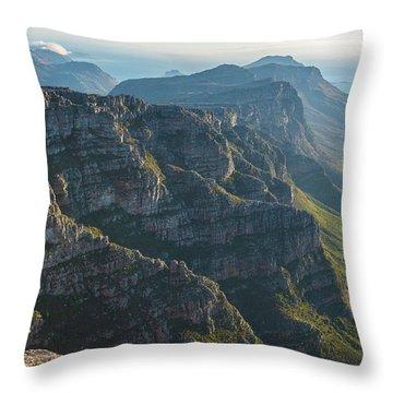 Cape Town 12 Apostles Dusk Throw Pillow