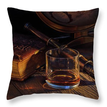 Captain Morgan Throw Pillow