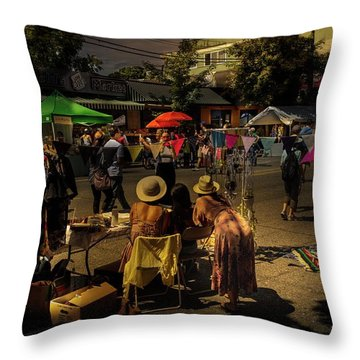 Throw Pillow featuring the photograph Car-free Day No. 2 by Juan Contreras