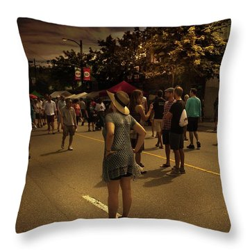 Throw Pillow featuring the photograph Car-free Day No. 7 by Juan Contreras