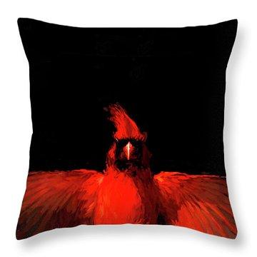 Cardinal Drama Throw Pillow