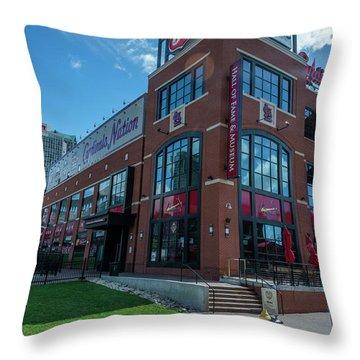 Cardinals Hall Of Fame Throw Pillow