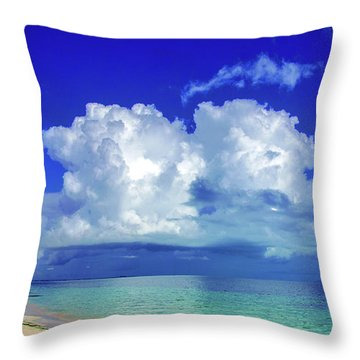 Caribbean Clouds Throw Pillow